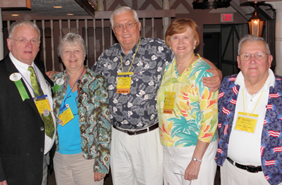 DG Bill Thomas & Wife Lion Julie, Lion Don Beeson & Wife Luana, & PDG Brother Pattie