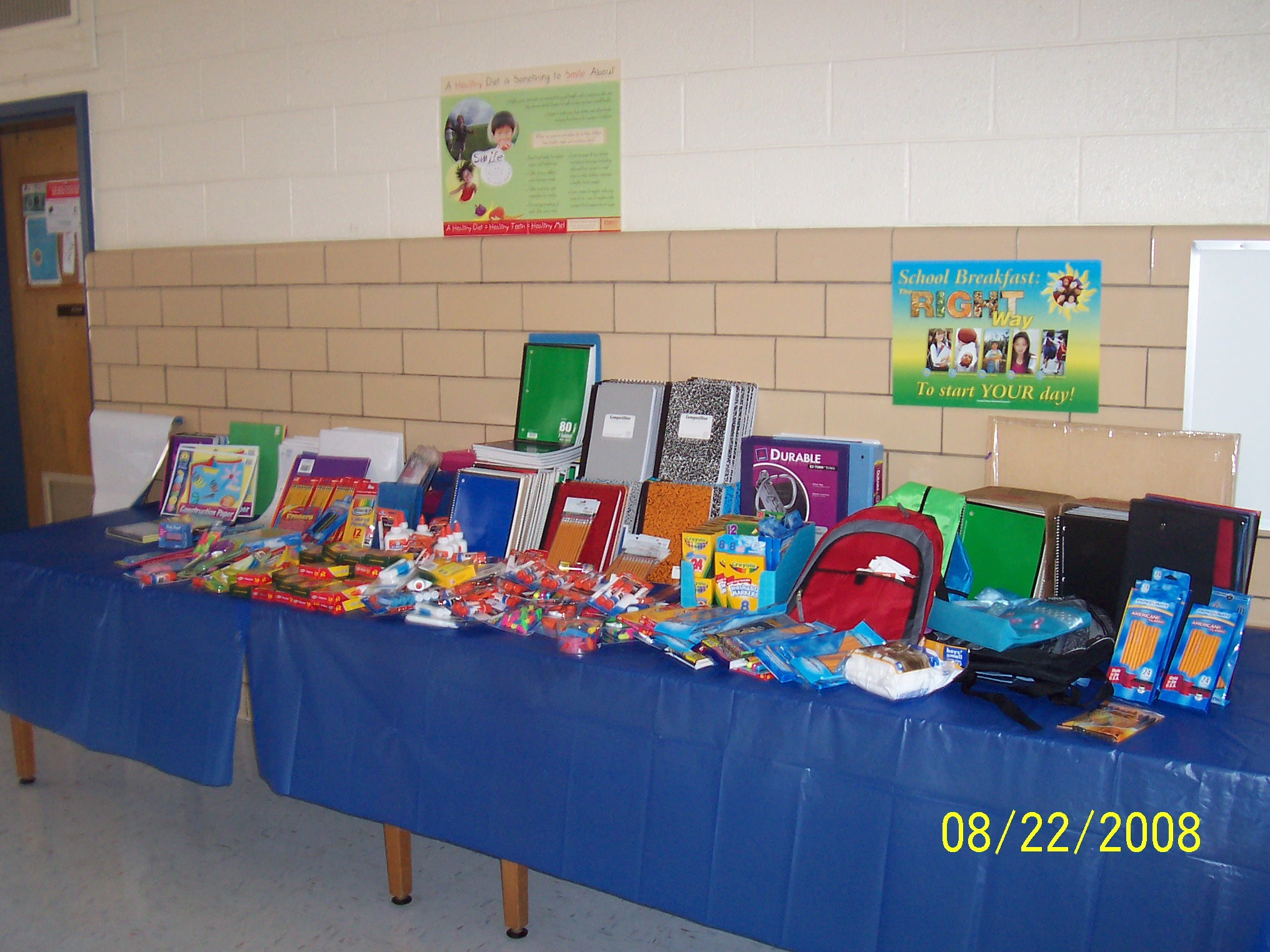 School supplies donated